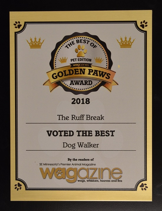 Golden Paws Best Dog Walking Company of 2018